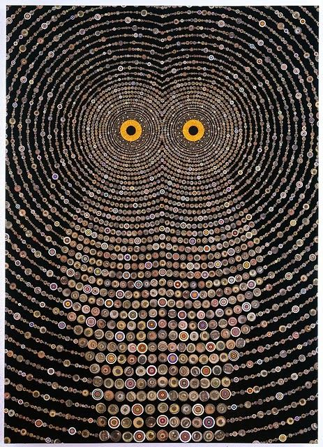 Psychedelic paintings of Southern California artist Fred Tomaselli. #0wl #art #painting