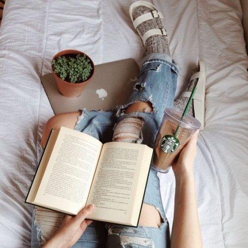 book, starbucks, and coffee resmi