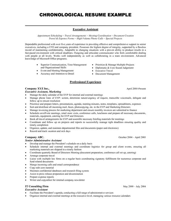 professional chronological resume template examples marketing - chronological resume