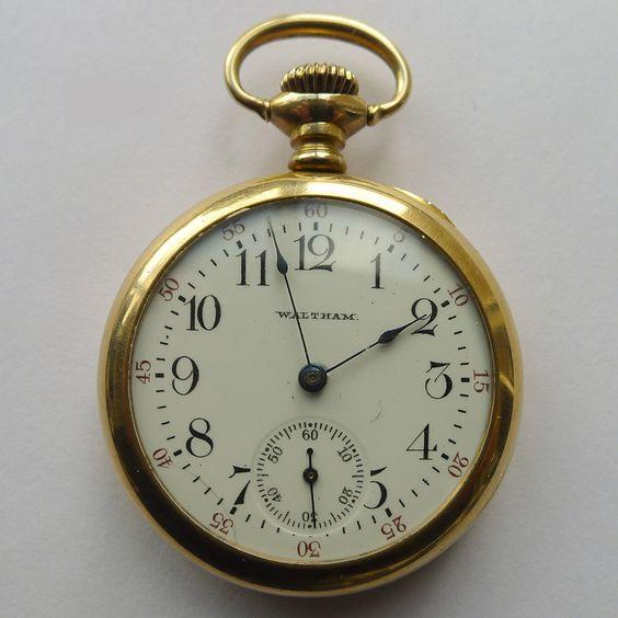 Waltham Pocket Watch 14kt Gold, ca. 1900