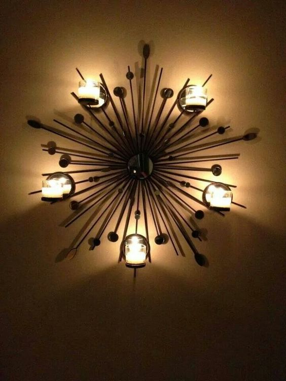 starburst wall sconce simply gorgeous partylite. Black Bedroom Furniture Sets. Home Design Ideas