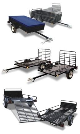 Utility trailers come in all shapes and sizes.  This page discusses each and every model available; what they can be used for, what to look for, and where to find them.