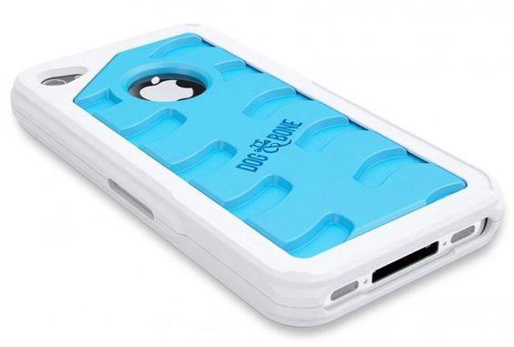 Dog Tread iPhone 5 Case weiß-blau