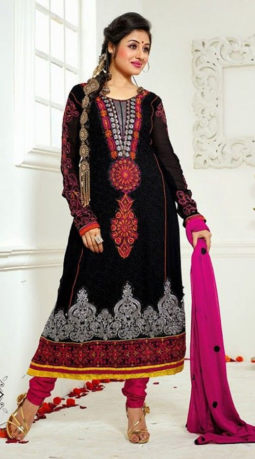 Jodha Begum In Black Churidar Kameez YS601045 | Jodha ...