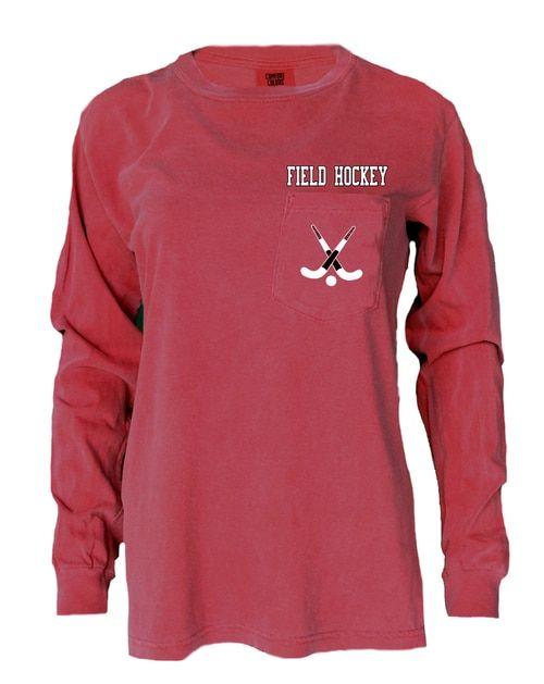 Field Hockey Pocket T Hockey Clothes Long Sleeve Tshirt Men Field Hockey