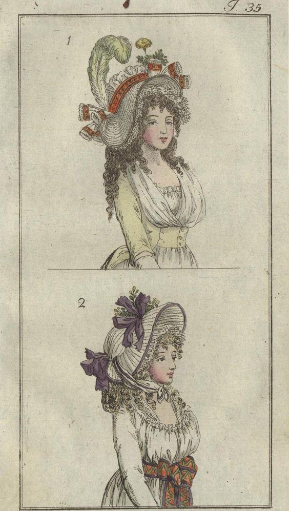 Bonnets 1795, Journal des Luxus und der Moden
