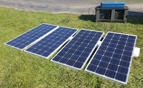 12000 Watt Solar Powered Mega Generator With 60 Amp Charge Controller 4 Panels 4 Batteries In 2020 Solar Panels Solar Energy Panels Advantages Of Solar Energy