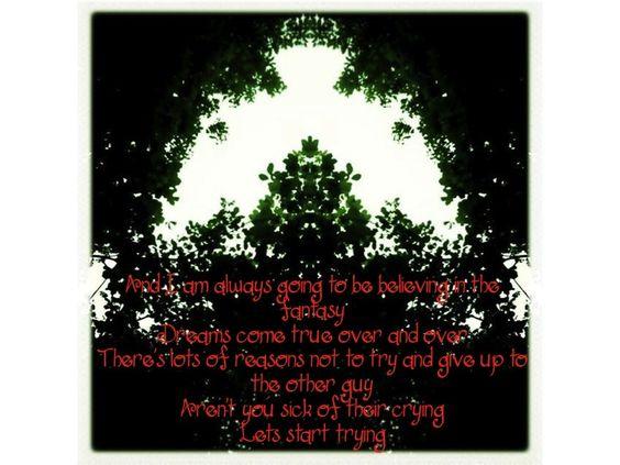 "Lyrics from ""Girls Who Believe"""