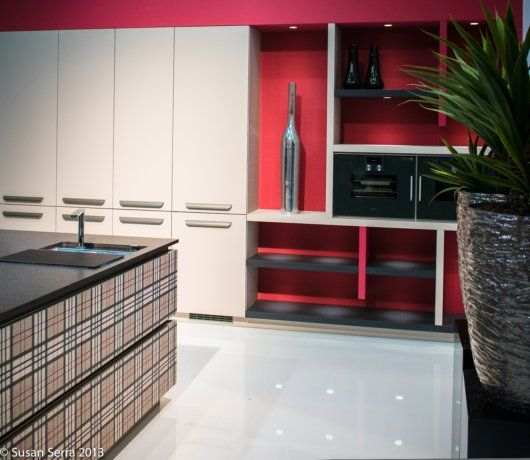 Exciting Kitchen Red Accent Wall