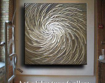 Original 52 x 26 Custom Abstract Heavy Texture von artoftexture