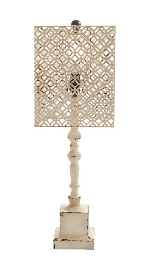 Well Designed Antique Wood Metal Table Lamp