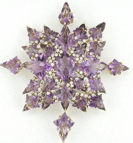 amethyst and diamond brooch from Tony Duquette