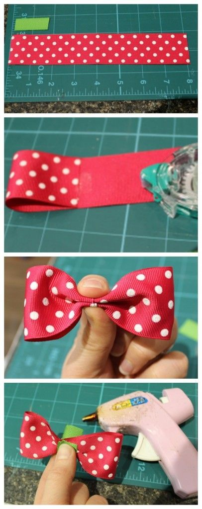 Simple and easy bow. Perfect for sewing on a project: