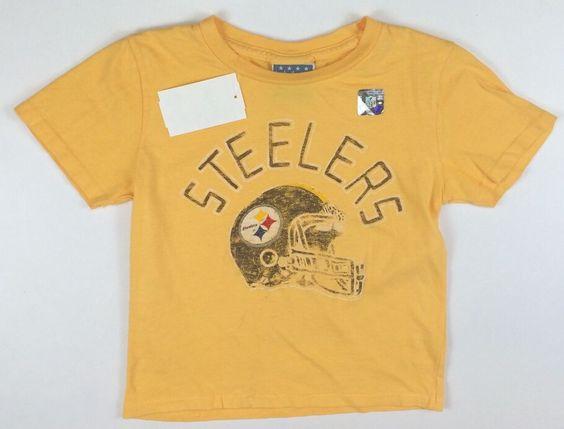 #steelers #football Junk Food NFL NEW Pittsburg Steelers Football T-Shirt Size 2 2T LBFO™ #JunkFood #DressyEveryday