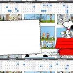 Convite Calendário 2015 Snoopy: