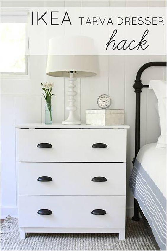 ikea tarva nightstand ideas. Black Bedroom Furniture Sets. Home Design Ideas