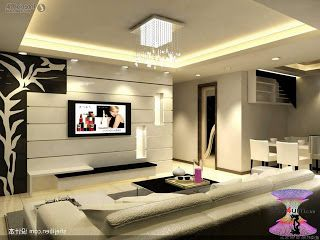 افضل ديكورات جبس اسقف راقيه 2019 Modern Gypsum Board For Walls And Ceilings Living Room Wall Designs Modern Living Room Lighting Furniture Design Living Room