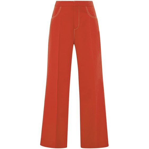 No. 21 Arati Cropped Pants (2,895 CNY) ❤ liked on Polyvore featuring pants, capris, relaxed fit pants, cropped pants, red pants, high-waisted trousers and relaxed pants
