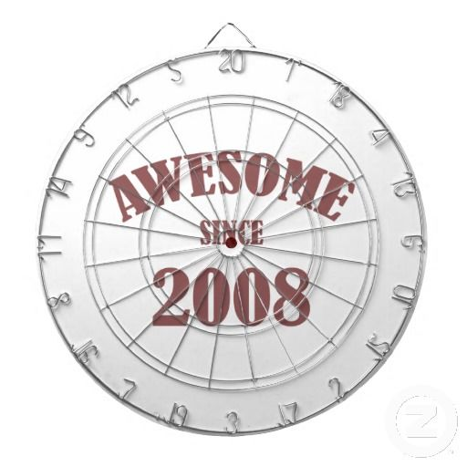 Awesome Since 2008 Dartboard With Darts