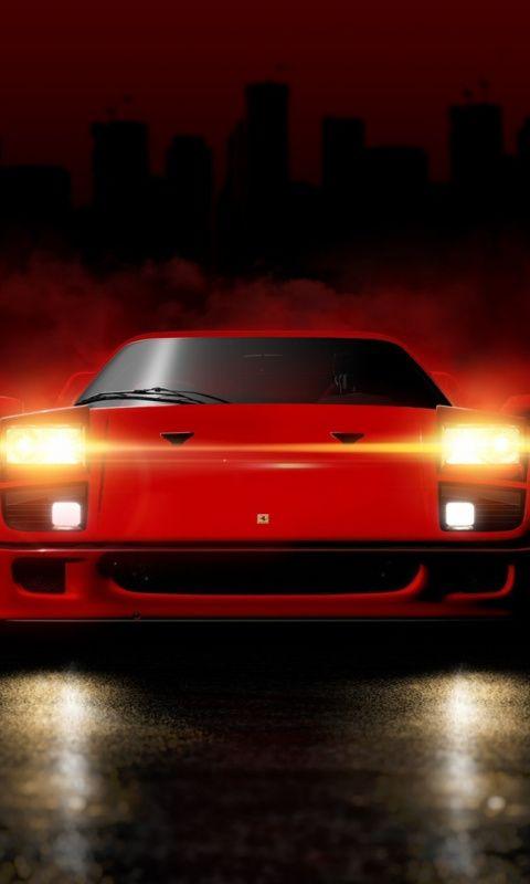 Ferrari F40 Sports Car Red 480x800 Wallpaper Sports Car