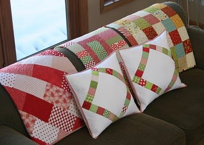 What fun pillows and love the Christmas Quilts!