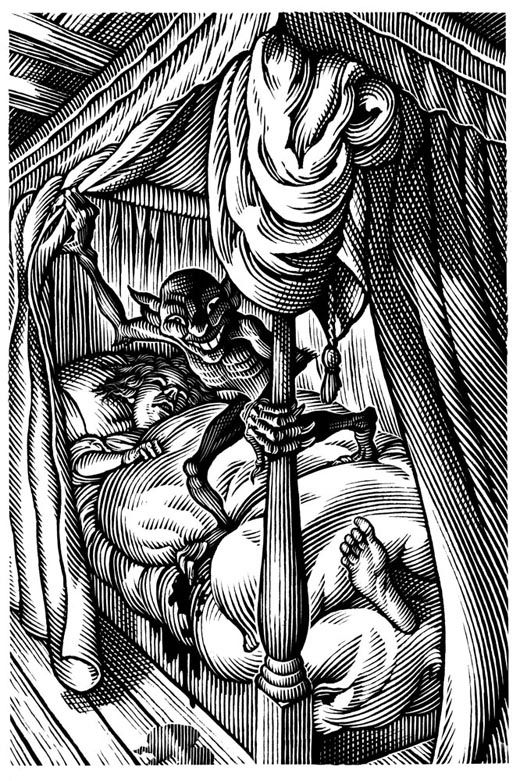"""Bill Sanderson """"We must not look at goblin men, We must not buy their fruits: Who knows upon what soil they fed Their hungry thirsty roots?."""" -Christinan Rossetti"""