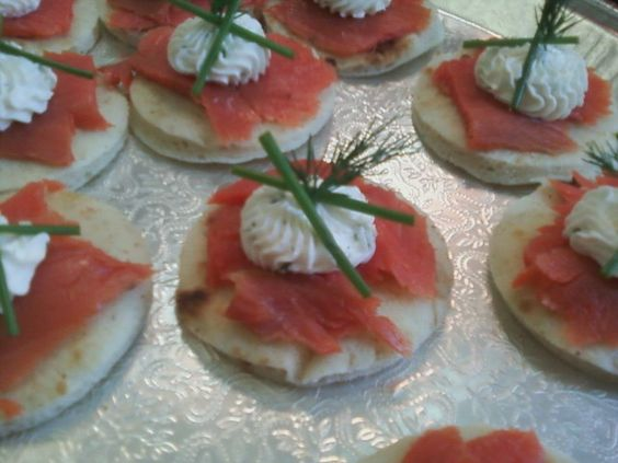 Herbed Biscuits With Smoked Salmon Recipe — Dishmaps