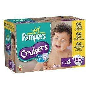 Amazon.com: Pampers Cruisers Diapers Economy Pack Plus Size 4 160 ...
