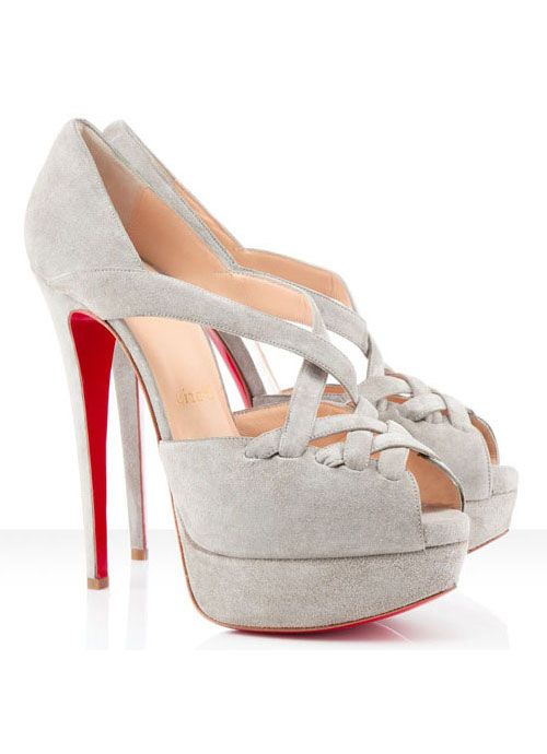 Christian Louboutin Shoes - Topdresses.co.uk: Red Bottoms, Grey Suede, Pretty Shoessssssss, Shoes Pumps Heels Stilettos, Christian Louboutin, Shoes Shoes