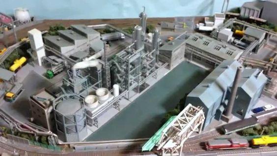 工業地帯風鉄道模型レイアウト かなえ臨海鉄道