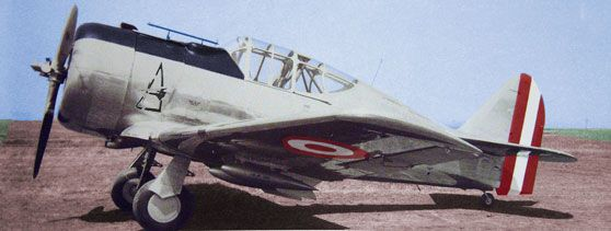 """Hunting Plane Bomber North American NA-50 """"Torito"""" belonging to the 41 Squadron Fighter Squadron XXI."""
