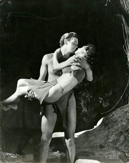 "Maureen O'Sullivan & Johnny Weissmuller in: ""Tarzan and his Mate"" (1934)"