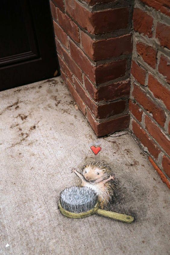 David Zinn street art: