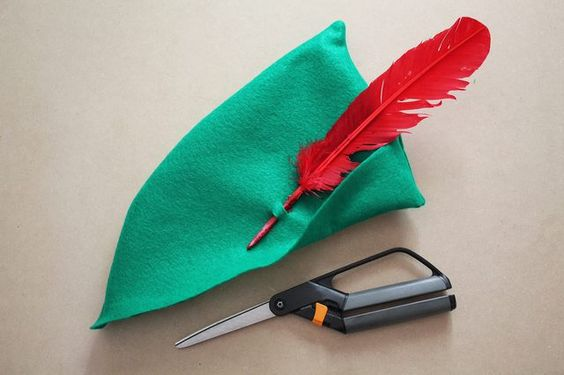 For the hat. Attach a red feather.