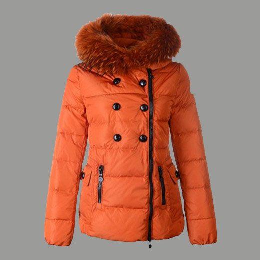 outlet Moncler Doudoune Femme pas cher Courte 12W Orange