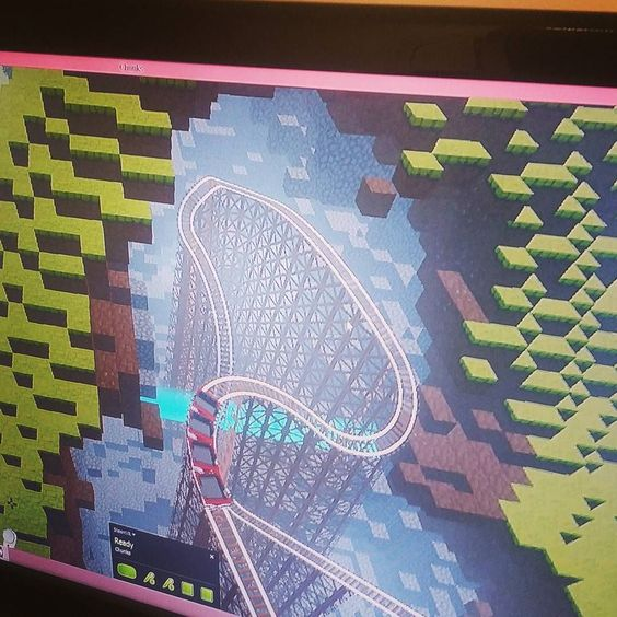 An awesome Virtual Reality pic! Building a #rollercoaster in #cyberspace thanks…