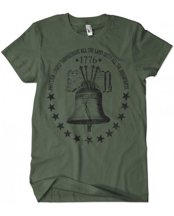 Evoke Apparel - Liberty Bell Patriotic T-shirt, $25.00 (http://www.evokeapparelcompany.com/liberty-bell-patriotic-t-shirt/)