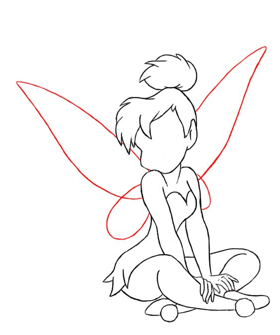 tinkerbell head coloring pages - photo#17