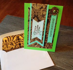 Geburtstagskarte in Grün – perfekt für einen Herrn – Wer hätte das gedacht?