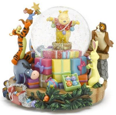 Disney Winnie the Pooh Christmas Snow Globe Christmas Pinterest
