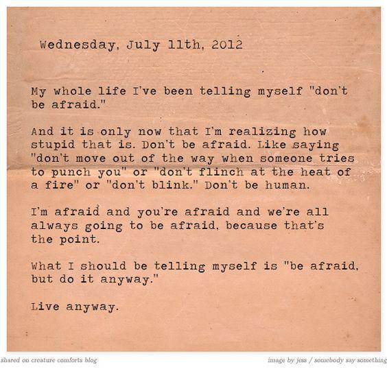 Wise Words (via Creature Comforts)