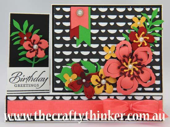 Stampin' Up!, Botanical Builder framelits, side Step card, The Crafty Thinker