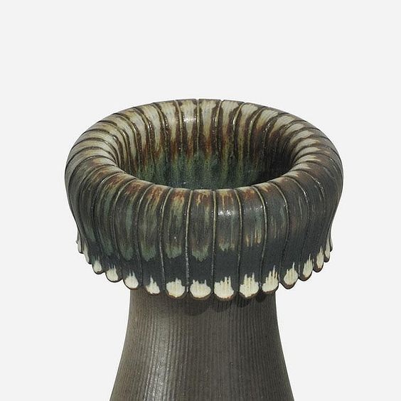 Farsta Sweden  city pictures gallery : Wilhelm Kåge Farsta vase Gustavsberg Sweden, 1955 glazed earthenware ...