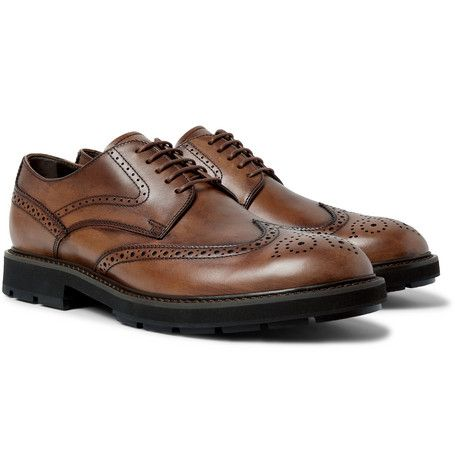 TOD'S LEATHER WINGTIP BROGUES. #tods #shoes #