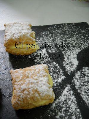 Pasteles de hojaldre: Hojaldre Empanadas, Desserts Recipes, Comer Postres, Postres Con Hojaldre, Desserts Desserts, Algunas Comidas, Empanada Bash, Postres Espanoles, Spanish Cuisine
