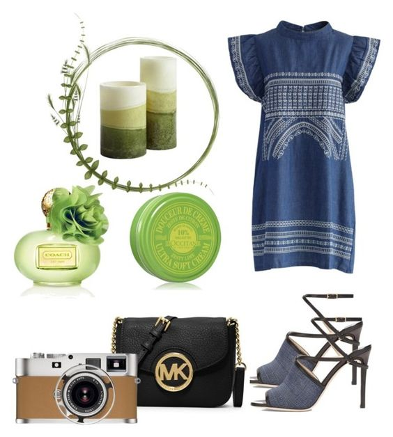 """""""Untitled #65"""" by poorvashikalra ❤ liked on Polyvore featuring Chicwish, Jimmy Choo, MICHAEL Michael Kors, Hermès, Pier 1 Imports, L'Occitane and Coach"""