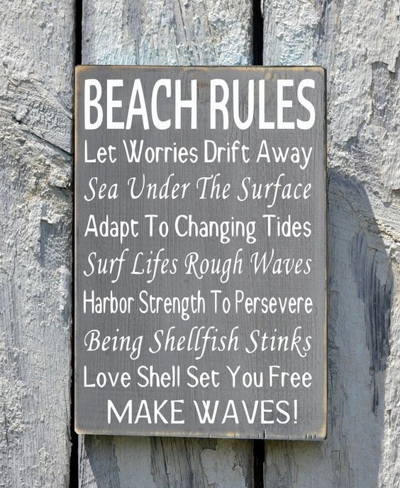 Personalized Beach House Plaques: Beach Rules Sign Beach House Decor Plaque Advice From The