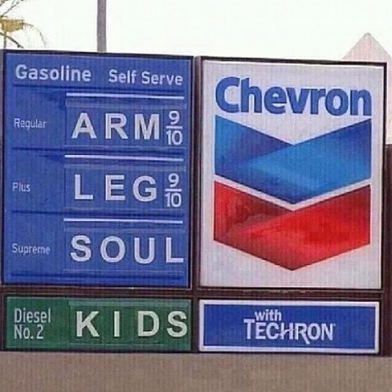 That's california gas for those who don't know!