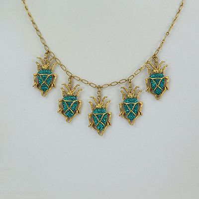 Askew-London-Signed-Five-Scarab-Drops-Necklace-and-Scarab-Drop-Earrings-Set