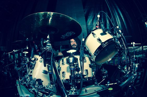 paul bostaph photos | Slayer, Paul Bostaph & das neue Yamaha Absolute Hybrid Maple Drumset.